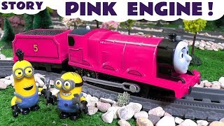 Thomas and Friends Toy Trains Pink Prank with funny banana Minions - Train Toys for kids  TT4U