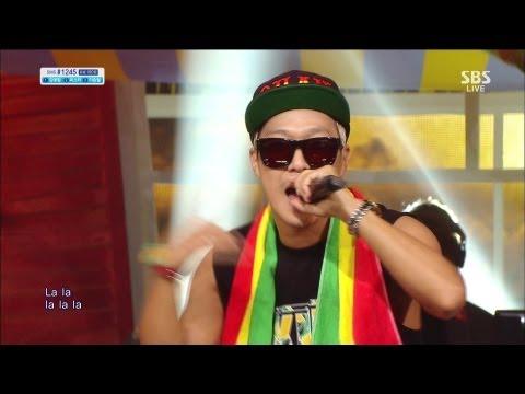스컬 (skull) / 하하 (haha) [REGGAErilla / Ragga Muffin] @SBS Inkigayo 인기가요 20130630