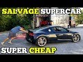 I Bought a TOTALED Audi R8 from a Salvage Auction & I