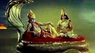 Lord Vishnu Murthy In Vaikuntam Introduction Scene - Bhakta Prahlada Telugu Movie