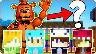 ADIVINA E IMITA: FREDDY Five Nights at Freddy's 😅😱 BEBE VITA MORA Y TIMO en MINECRAFT