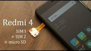 Redmi 4 पर 2 SIM और Micro SD एक साथ with Hybrid SIM Slot Adapter