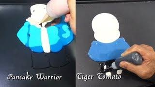 FUN PANCAKE Match: Pancake Warrior VS Tiger Tomato Part 2