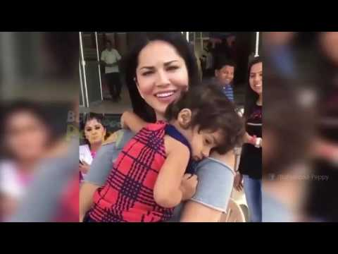 CUTE: This baby refuses to leave Sunny Leone