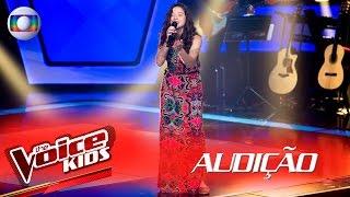 Lara Valente canta 'Onde Anda Você' na Audição – The Voice Kids | 2ª Temporada