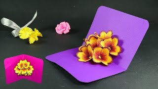 How to Make Pop Up Cards - Pop Up Flower Card DIY Tutorial