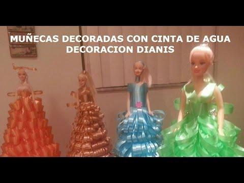 MUÑECAS DECORADAS CON CINTA DE AGUA DIANIS