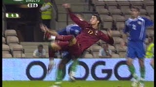 Cristiano Ronaldo disallowed super goal Portugal-Azerbaijan 07-10-2006