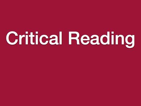 Lesson 9 - Critical Reading