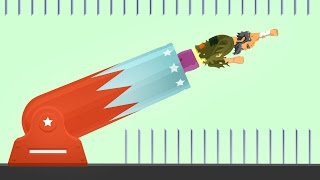 HOW FAR CAN YOU FLY? (Happy Wheels)