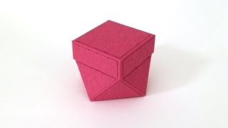 #3 Faceted Box with Lid - Matting