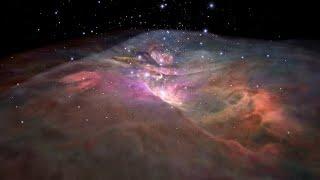 Flight through Orion Nebula in visible light