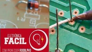 Soldagem de componente eletrônico - Diodo Zener PTH - Eletrônica