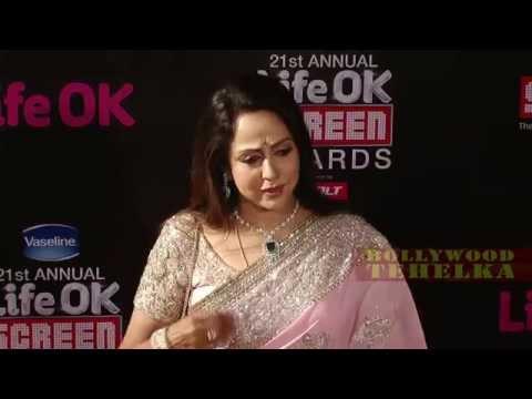 Hema Malin | Red Carpet Life Ok Screen Awards 2015 !