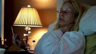 My mom after surgery: falling asleep while eating