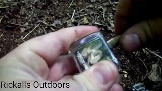 Using a pencil sharpener to start a fire