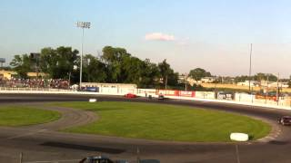 Sportsdrome Speedway wreck & fight
