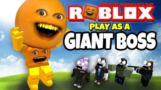 Annoying Orange Plays - ROBLOX: Play As Giant Boss!