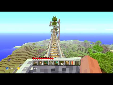 Biggest Legit Minecraft Mine Cart Track on Xbox 360
