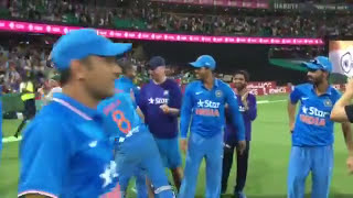 Celebrations of Indian Team after T20 series win against Australia 2016