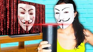 HACKER LEADER ALEXA? Hacker Girl 24 hour hide and seek rescue