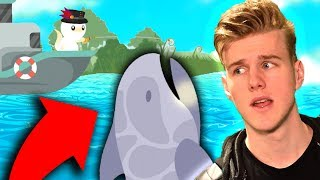 CATCHING THE BIGGEST SHARK!!! (Cat Goes Fishing)