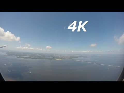 INCREDIBLE BAYSIDE LANDING 4K Delta Airlines Tampa International Airport MD88 FIRST CLASS