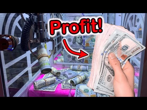MADE SO MUCH MONEY FROM MINI CASH CLAW MACHINE JOYSTICK