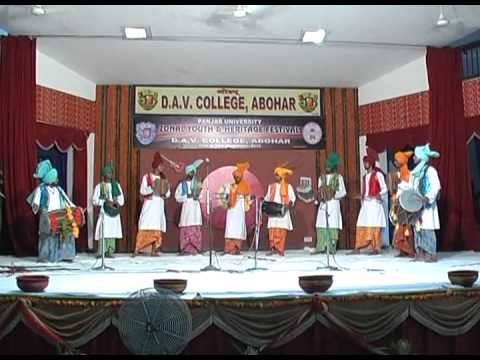 DAV  college Abohar  Folk Orchestra Team 2010-youth fest.