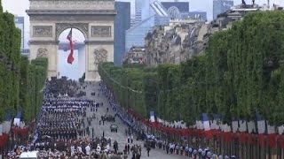 Raw: Colorful Parade Marks France's Bastille Day