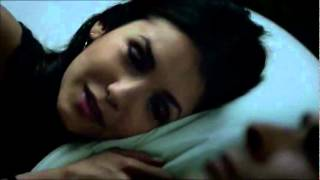 3x19 Elena Kisses Damon + Bed scene [Motel]