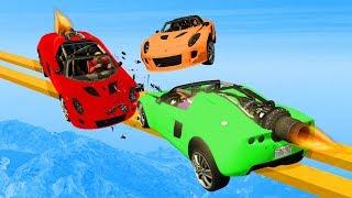 MILE HIGH ROCKET CAR DESTRUCTION! - GTA 5 Funny Moments