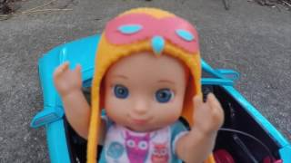 Frozen Anna alllows baby James to Drive her Car and he crashs in Barbie's Car