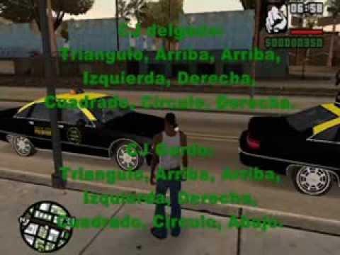 Trucos De Gta San Andreas para PS2 TODOS