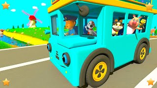 Blue Wheels on the Bus | Kindergarten Kids Songs | Nursery Rhymes Collection Little Treehouse