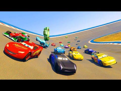 Race Cars McQueen Jackson Storm Cruz Ramirez Francesco The King Chick Hicks and Friends & Songs
