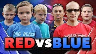 Nerf War:  Red vs Blue