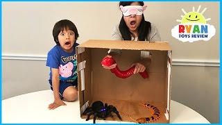What's in the Box Challenge Parent vs Kid with Ryan ToysReview