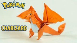 Paper Pokemon - Origami Charizard Tutorial - Intermediate version (Henry Phạm)