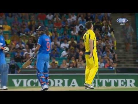 Cricket : India win ODI thriller in Sydney (last 3 overs)