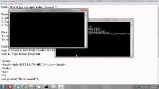 How to run Hello World example jsp program on Apache Tomcat 7?