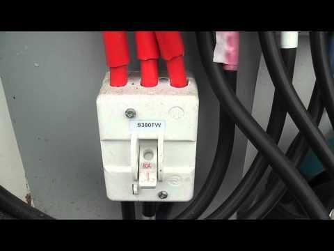 Actaris 3 phase kWh meter in outside meterbox