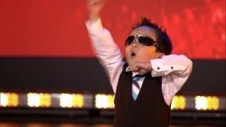 Vierjarige Tristan danst Gangnam style in Belgium