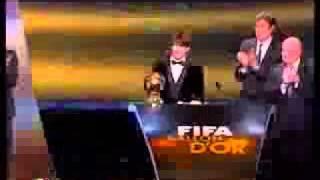 Lionel Messi wins Fifa Ballon d #39;Or award  Golden Ball