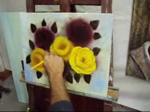 Pintando rosas com Marcio Monteiro aula 4