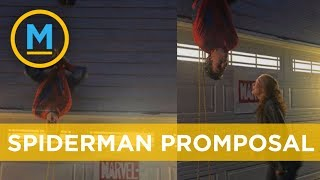 Spiderman asks his girlfriend to prom | Your Morning