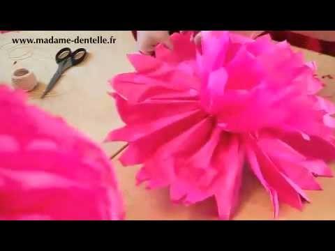 Fabriquer un pompon en papier de soie