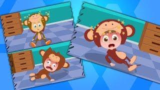 Fünf kleine Affen | Springen Affen Reim | Top deutsche Reime | Five Little Monkeys | Baby Rhymes