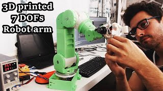 Time lapse - Building a 3D printed 7-DOFs robot arm from scratch