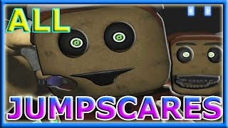 ALL JUMPSCARES | ALL ANIMATRONICS | Five Nights at Chuck's 3